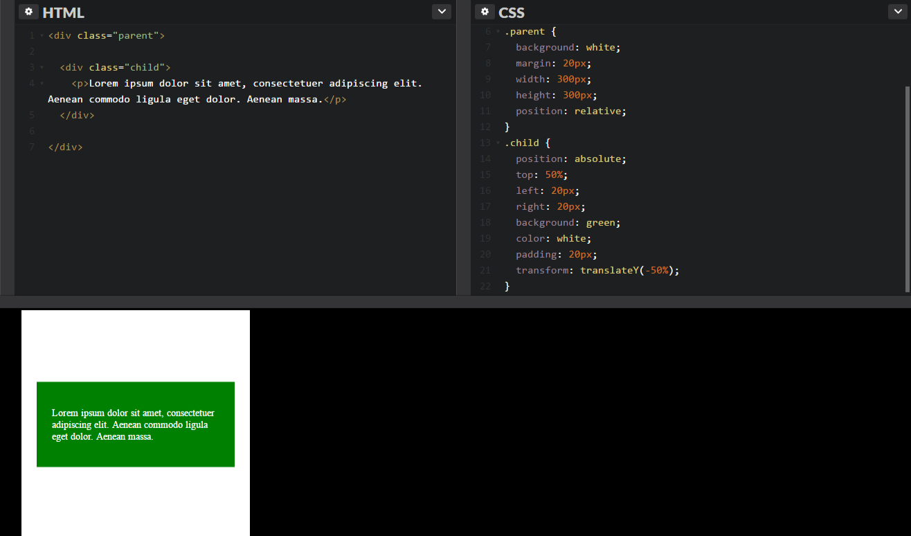 Centering Vertically