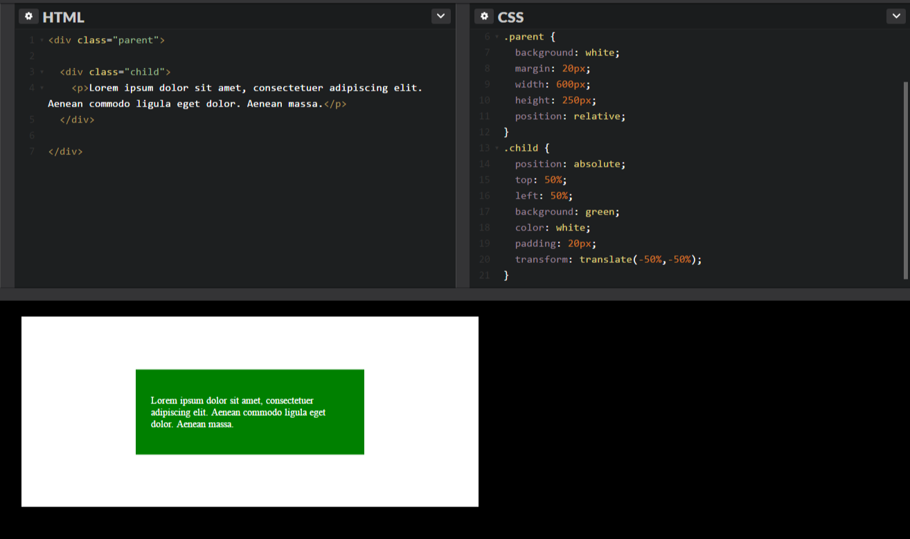 Centering Both Horizontally and Vertically