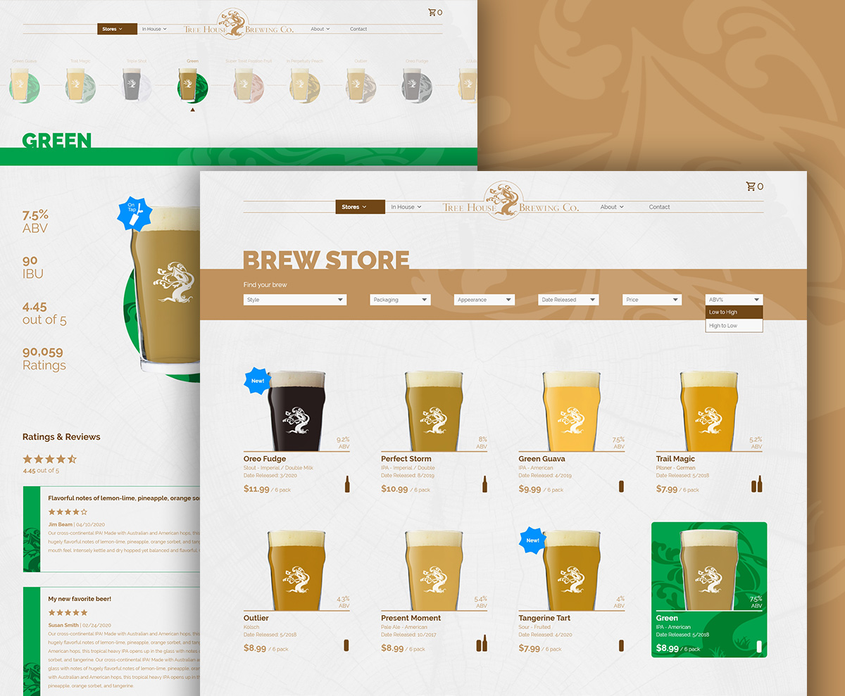 Tree House Brewing Store UI Concept Thumbnail
