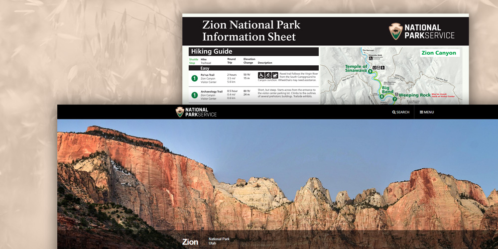 National Park Service Collateral Mockups
